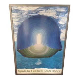 1997 Charleston Spoletto Poster by David Hockney
