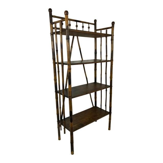 19th Century Bamboo Bookshelf For Sale