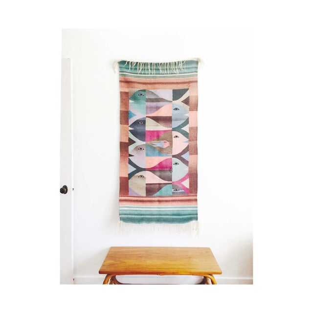 Textile Vintage Woven Fish Wall Hanging For Sale - Image 7 of 7