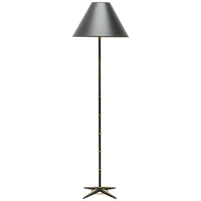 Jacques Adnet Style Star-Base Floor Lamp, France, 1950s - Image 7 of 7