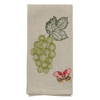 Cottage Grapes and Butterfly Tea Towel For Sale