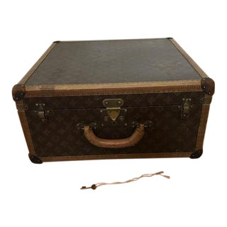 Vintage Louis Vuitton Hard-Sided Alzer Suitcase, C. 1920s For Sale