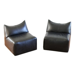 "Mario Bellini ""Le Bambole"" Chairs in Black Leather by B&b Italia - a Pair For Sale"
