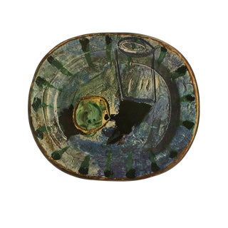 1955 Pablo Picasso Fruit and Glass Ceramic Plate, Original Period Swiss Lithograph For Sale