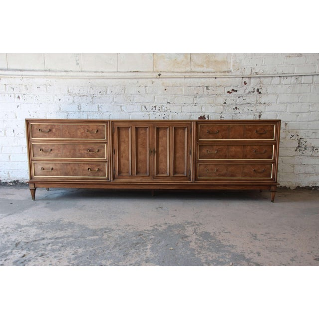 Bernhard Rohne for Mastercraft Burled Amboyna and Brass Mid-Century Credenza - Image 2 of 11