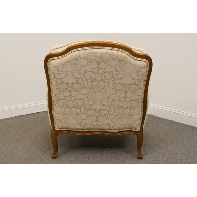 Textile Late 20th Century Vintage Ethan Allen Country French Regency Accent Arm Chair For Sale - Image 7 of 10