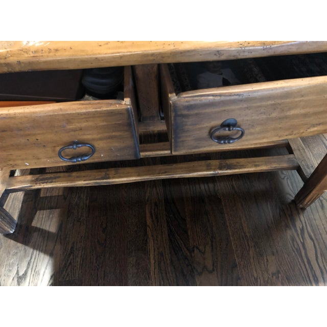Farmhouse Sofa Table - Solid Wood For Sale - Image 3 of 12