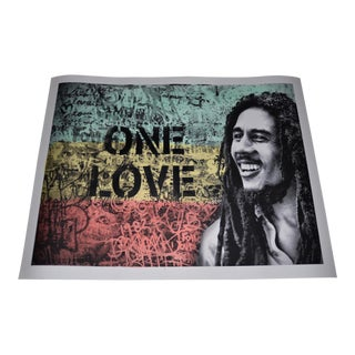 "Mr. Brainwash ""Happy Birthday Bob Marley, One Love"" Silkscreen W/ Watercolor C.2019 For Sale"