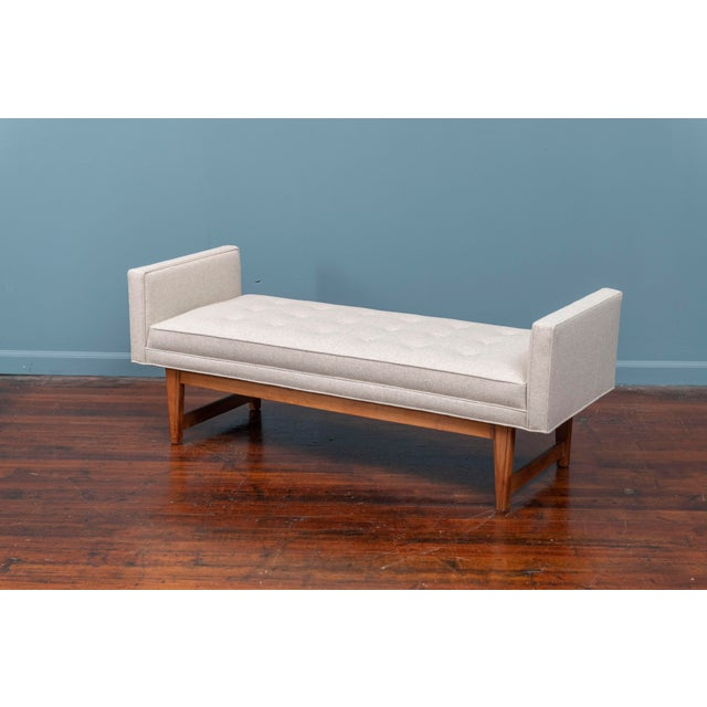 Lawrence Peabody Mid-Century Modern Upholstered Bench by Selig For Sale - Image 4 of 8