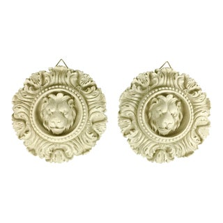Rococo Lion Wall Accents - a Pair For Sale