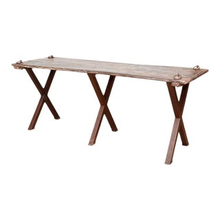 Vintage Swing Plank Table