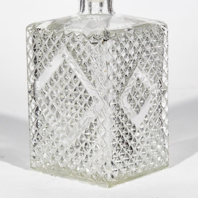 1960s Textured Square Glass Decanters, Pr For Sale In Boston - Image 6 of 7