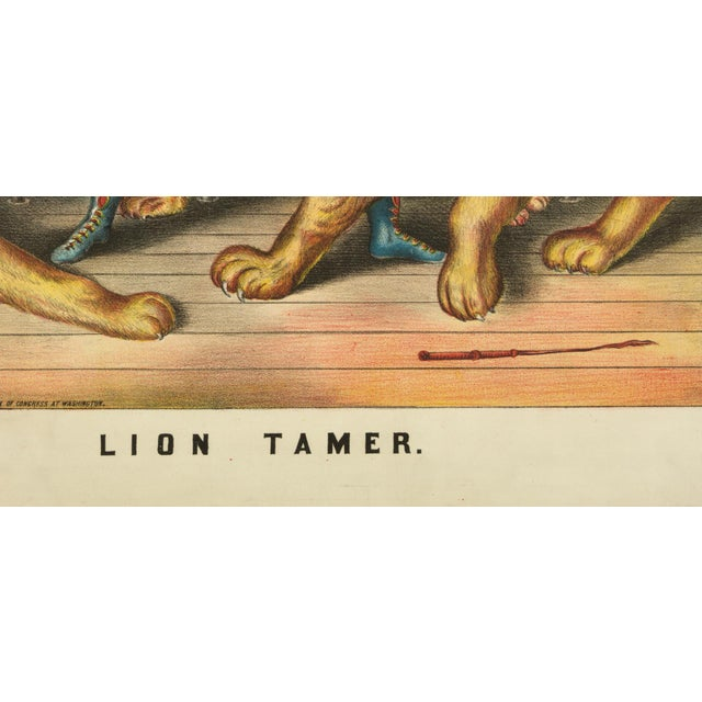 19th-C. The Lion Tamer Circus Print - Image 3 of 3