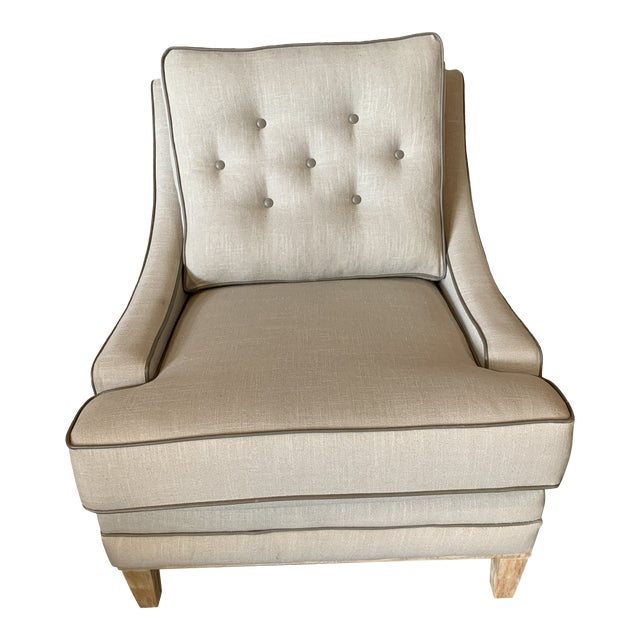 Modern Taupe Leighton Chair For Sale