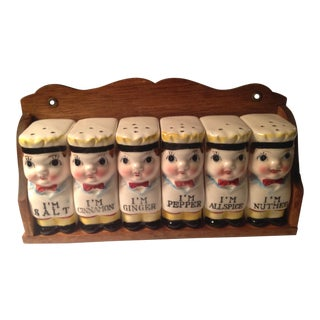 20th Century American Classical Character Spice Rack - 7 Pieces For Sale