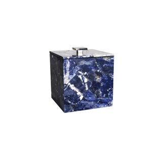 Sodalite Ice Bucket In Semi Precious Stone For Sale