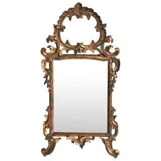 18th Century Italian Gilt Wood Mirror