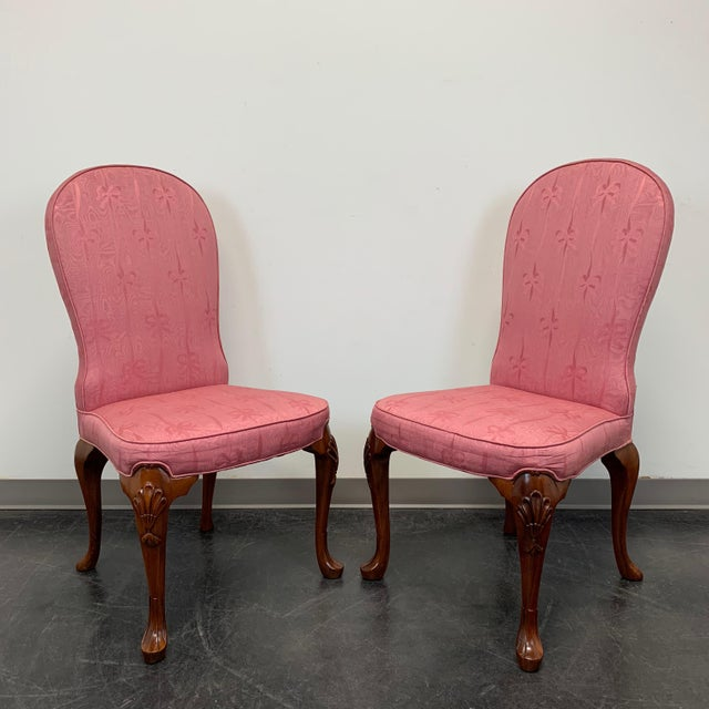 John Widdicomb John Widdicomb Queen Anne Style Dining Parsons Side Chairs - Set of 4 For Sale - Image 4 of 12