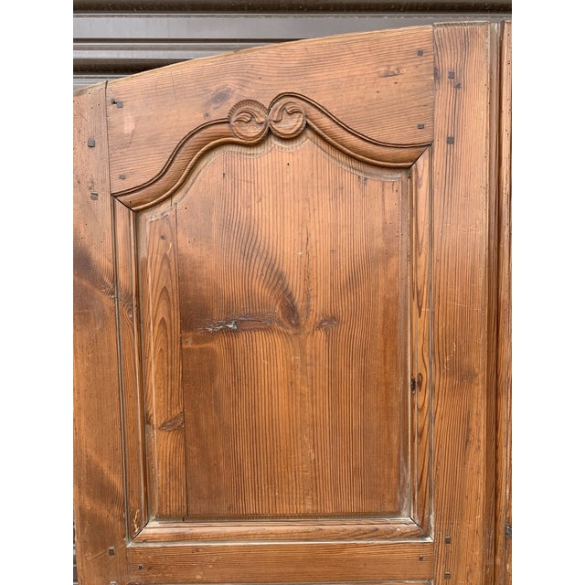 Mid 18th Century 18th C Antique French Walnut Armoire Doors - a Pair For Sale - Image 5 of 13