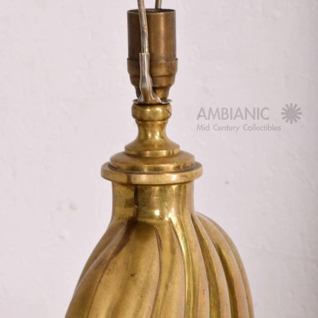 Hollywood Regency Brass Table Lamp For Sale - Image 4 of 7