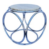 Image of 1970s Mid-Century Modern Chrome Side Table For Sale