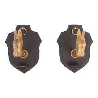 Brass Hooves Coat Hanger Set