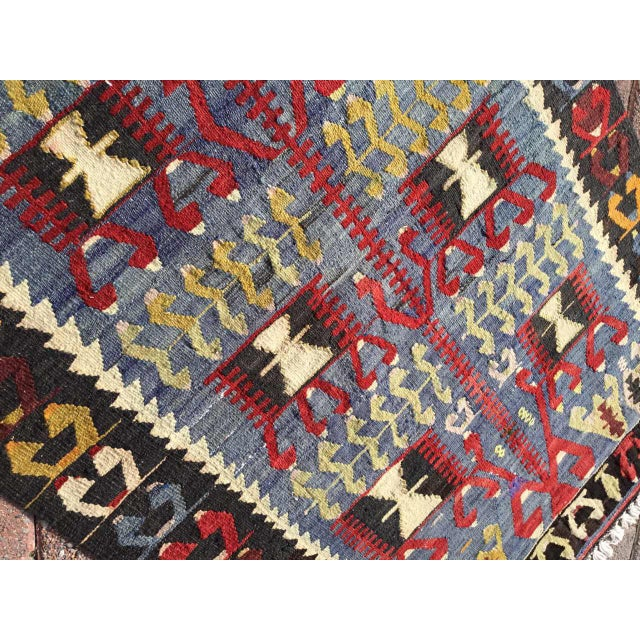 Vintage Turkish Kilim Rug For Sale In Raleigh - Image 6 of 9