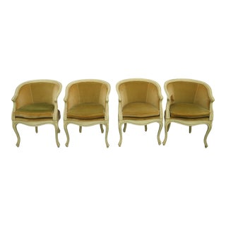 French Burl Shape Four Side Chairs by Jamestown Lounge Co 2112 For Sale