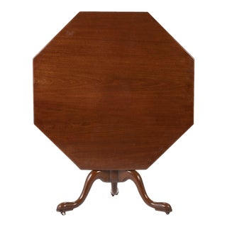 George II Mahogany Octagonal Tilt Top Center Table For Sale