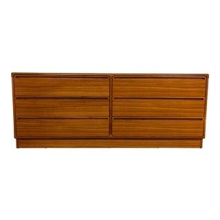 Torring Danish Teak 6 Drawer Lowboy Dresser For Sale