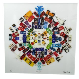 "Paula Brett ""Car Mandala"" Limited Edition Photograph Plexifacemount Framed 2016 For Sale"