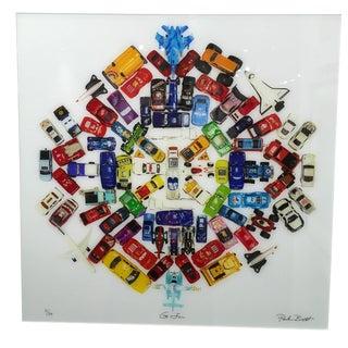 "Paula Brett ""Car Mandala"" Limited Edition Photograph Plexifacemount Framed 2016 For Sale"