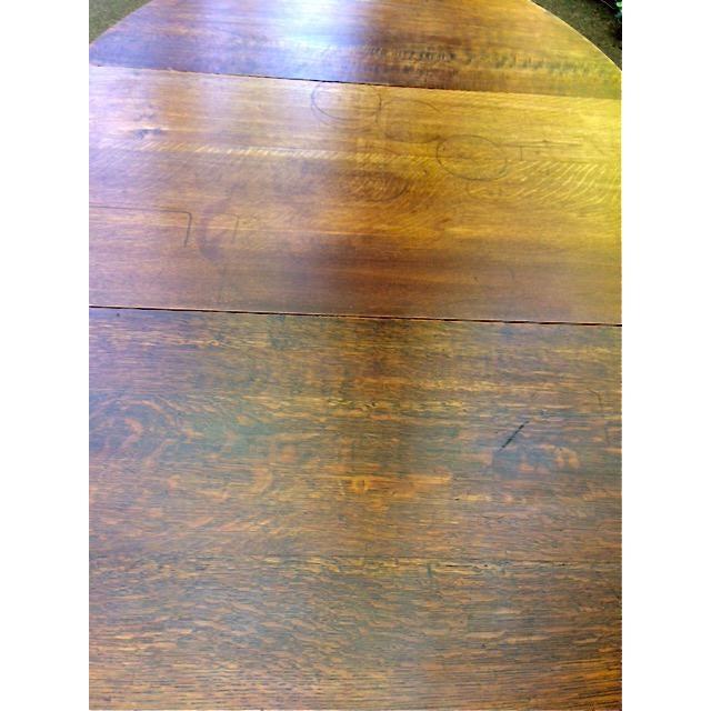 Antique Oak Drop Leaf Table - Image 6 of 6