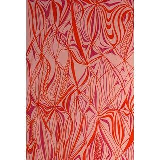 Vintage Mid-Century Harwood Steiger Hand-Screened Lightweight Cotton Fabric - 3 Yards For Sale