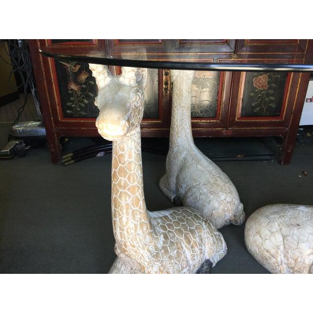 Folk Art Giraffe Table For Sale - Image 3 of 13