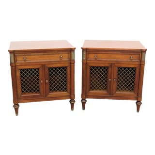20th Century Regency Kindel Furniture Belvedere Nightstands - a Pair For Sale