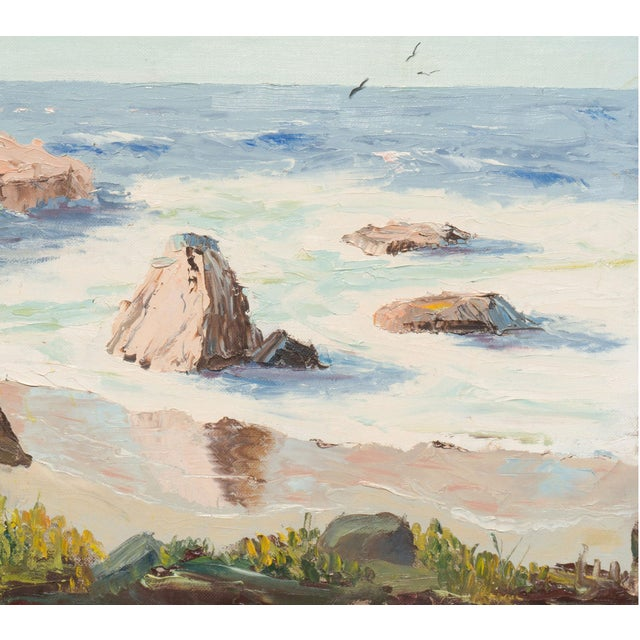 California Seascape by Evelyn Meck, 1975 - Image 2 of 6