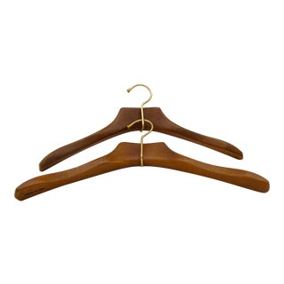 French Wood Hangers - A Pair