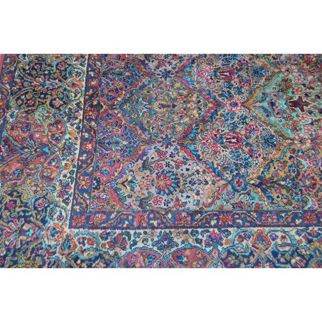 Karastan #717 Multi Panel Kirman Large Room Size Rug For Sale - Image 12 of 13