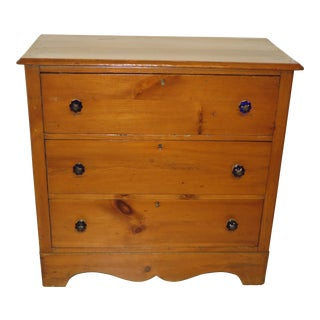 1910s Country Style Pine Chest of Drawers