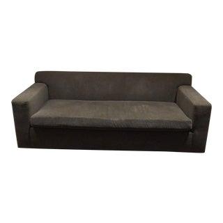 Custom Slate Gray Mohair Sofas
