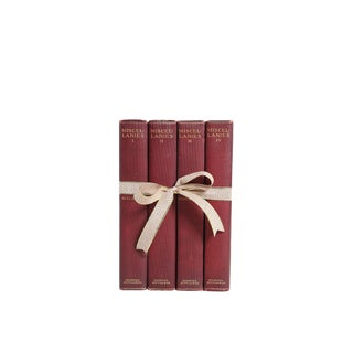 Macaulay's Miscellanies in Merlot - Set of Four Decorative Books For Sale