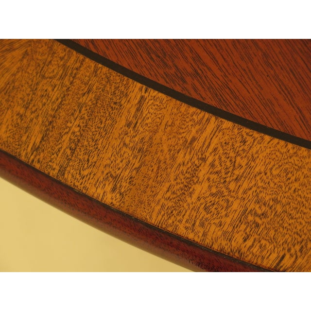Kindel Banded Border Duncan Phyfe Mahogany Dining Table For Sale - Image 10 of 13