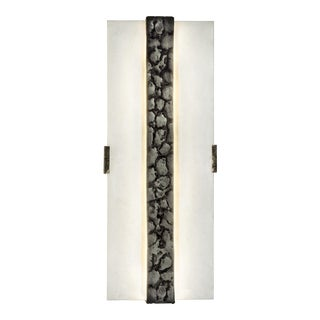 Givre Aged Brass Wall Lamp by Christine Rouviere For Sale