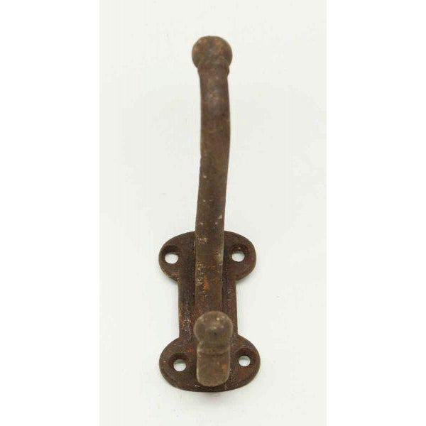 Rustic Double Iron Hook For Sale - Image 3 of 5
