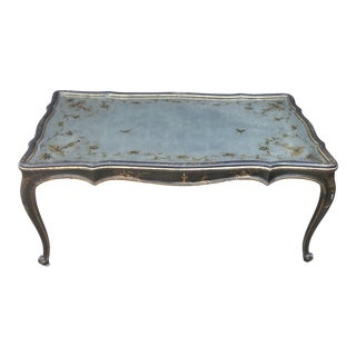 Chinoiserie Eglomise Mirrored Coffee Table For Sale