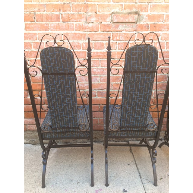 Midcentury Spanish Revival Dining Chairs - Set of 6 - Image 5 of 8