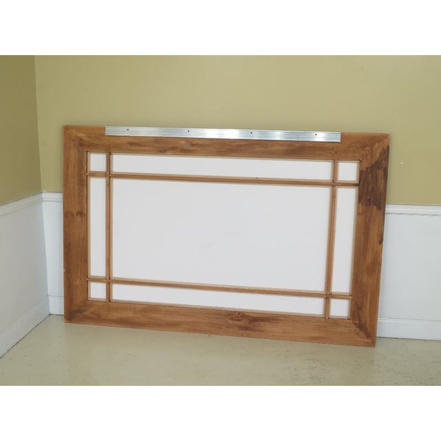 Wood 1990s Vintage Beveled Glass Mahogany Mirror For Sale - Image 7 of 8