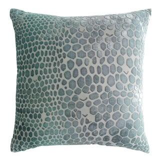 Jade Snakeskin Velvet Pillow
