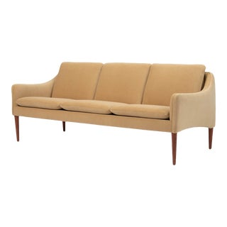Hans Olsen Three Seat Sofa in Italian Mohair For Sale